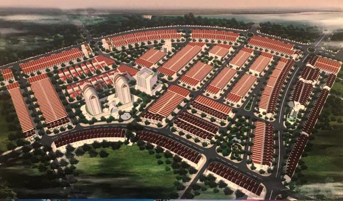 Dự án KĐT 7B còn có tên thương mại là Vision City hoặc Sentosa City có diện tích 29,8ha đã hoàn thiện cơ sở hạ tầng và đang giao bán các lô đất nền trong khi con đường BT 1,9Km vẫn chưa hoàn thiện xong.
