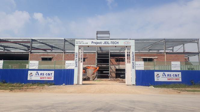Công ty TNHH Jeil-Tech xây dựng hàng chục nghìn m2 nhà xưởng khi chưa có ĐTM.
