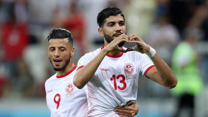 Sassi ghi bàn thắng san bằng cách biệt cho Tunisia. Ảnh: (Getty Images)
