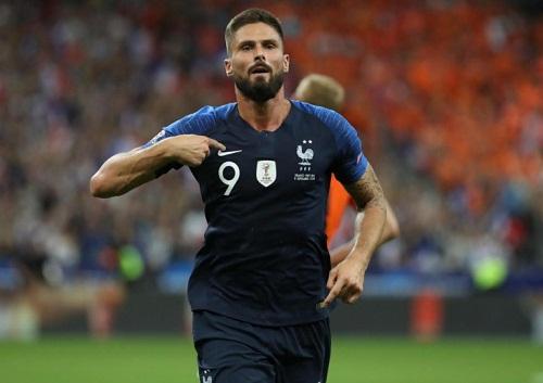 Giroud ghi bàn thắng quyết định trong trận đấu. (Ảnh: Reuters)
