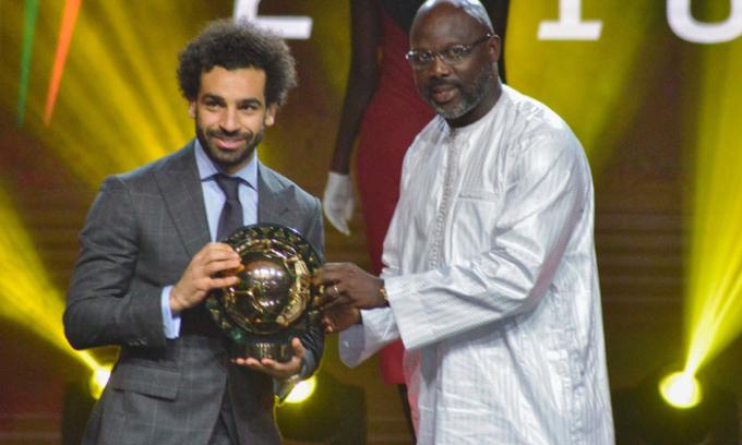 Salah giành danh hiệu Quả bóng Vàng Châu Phi năm 2018. (Nguồn: Bongdanet.vn)