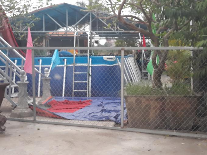 Khu vui chơi giải trí bể bơi Tiến Thịnh xây dựng trái phép trên đất nông nghiệp.