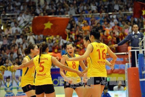 Tuyển bóng chuyền nữ Việt Nam sẽ tham dự Giải bóng chuyền nữ Quốc tế VTV. Ảnh: TTXVN