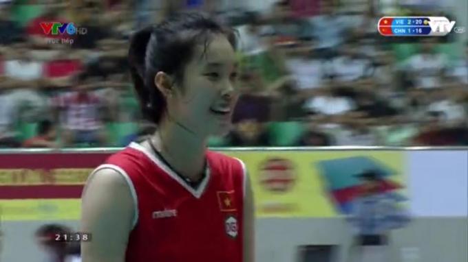 Tuyển thủ Trần Thị Thanh Thúy- điểm nhấn của trận đấu này