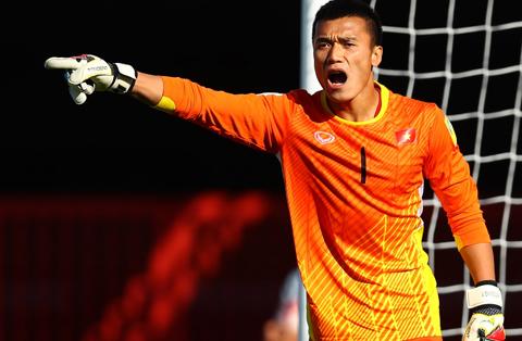 Thủ môn Tiến Dũng là một chốt chặn an tâm của U20 Việt Nam.