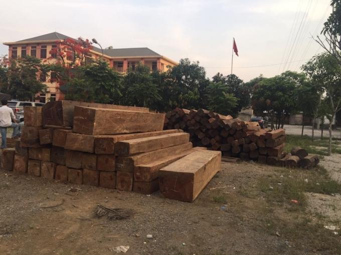 Toàn bộ số gỗ thuộc nhóm 1A (loại quý hiếm) được phát hiện trên chiếc xe container.