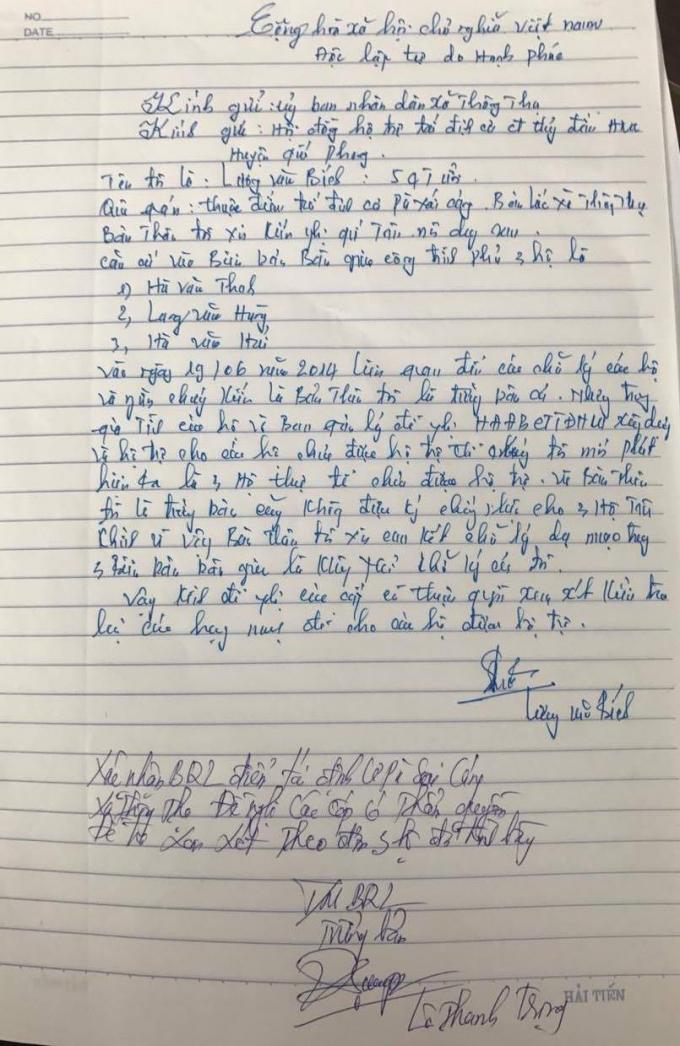 Ông Lương Văn Bích (nguyên trưởng bản) xác nhận chữ ký trong các biên bản bàn giao không phải là của mình.