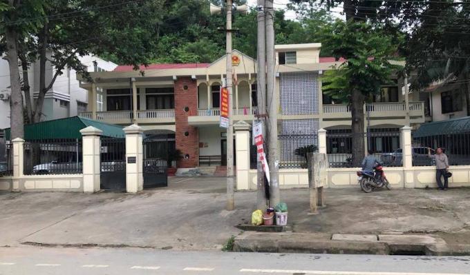 Trụ sở TAND huyện Kỳ Sơn nơi ông Thành làm chánh án.