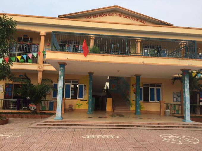 Trường mầm non xã Diễn Kim, huyện Diễn Châu nơi đã phải hoàn trả lại gần 60 triệu đồng vì thu sai quy định.