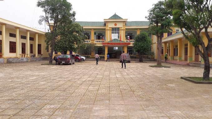 UBND xã Nghi Quang nơi xảy ra sự việc.