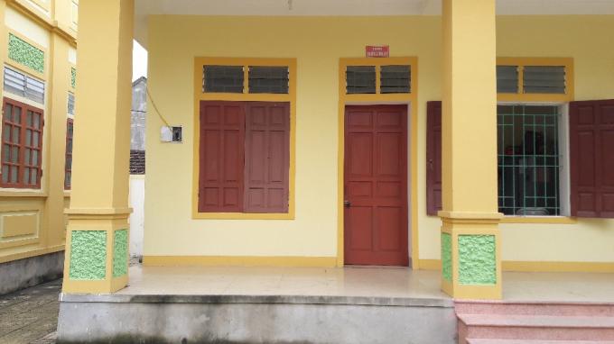 Phòng làm việc của ông Nguyễn Ngọc Thấu - Trưởng công an xã Nghi Quang khóa trái cửa vào sáng ngày 10/11.