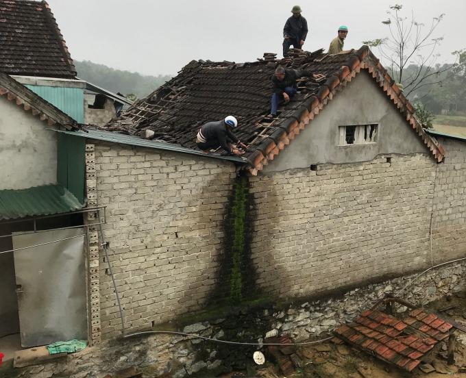 Căn nhà ông Diệu nơi xảy ra vụ nổ.