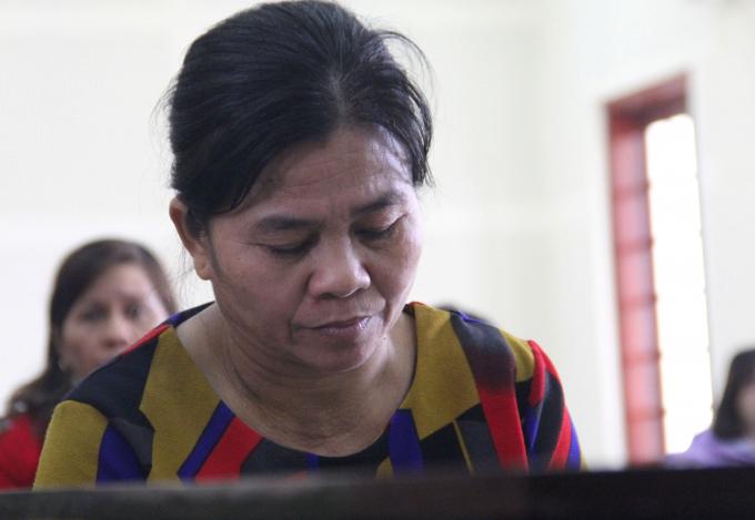 Bị cáo Moong Thị Hà người đã tìm cách đưa Kiều An sang Trung Quốc để bán.