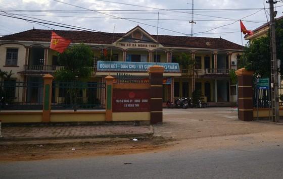 UBND xã Nghĩa Thái nới ông Tồn và ông Thủy từng giữ những chức vụ chủ chốt.