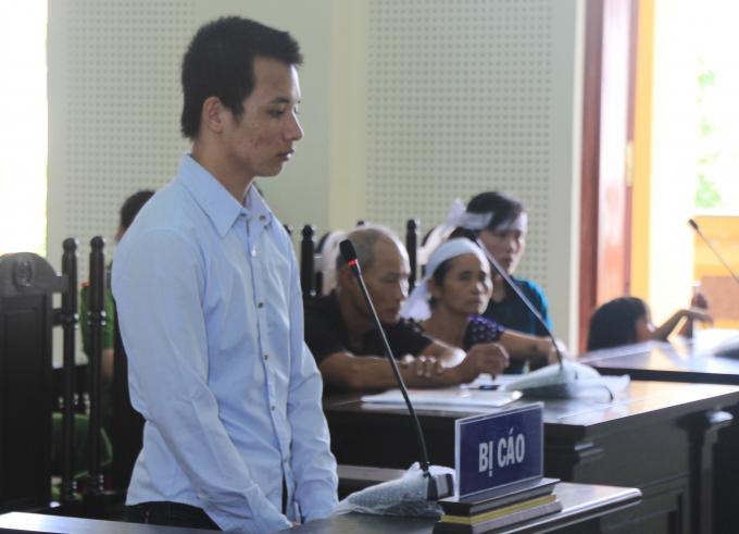 Phan Đình Quảng tại phiên tòa ngày 9/8.