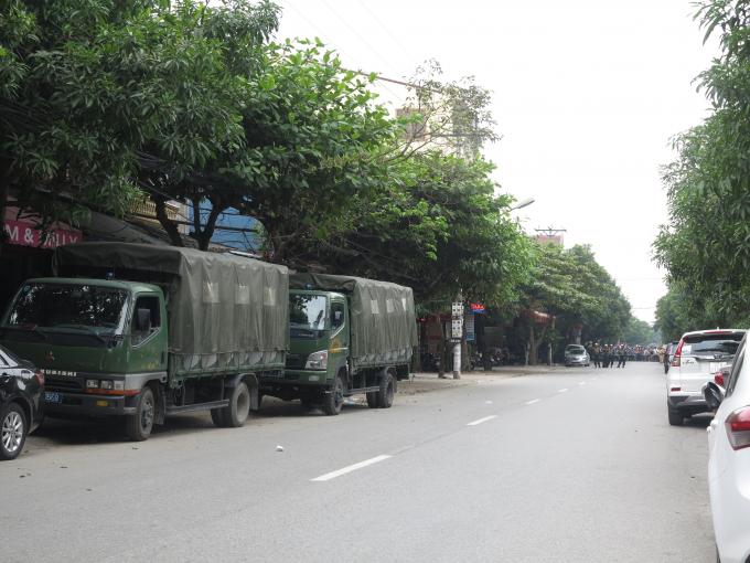 Lực lượng Công an, cảnh sát có vũ trang ... được triển khai vây bắt đối tượng.