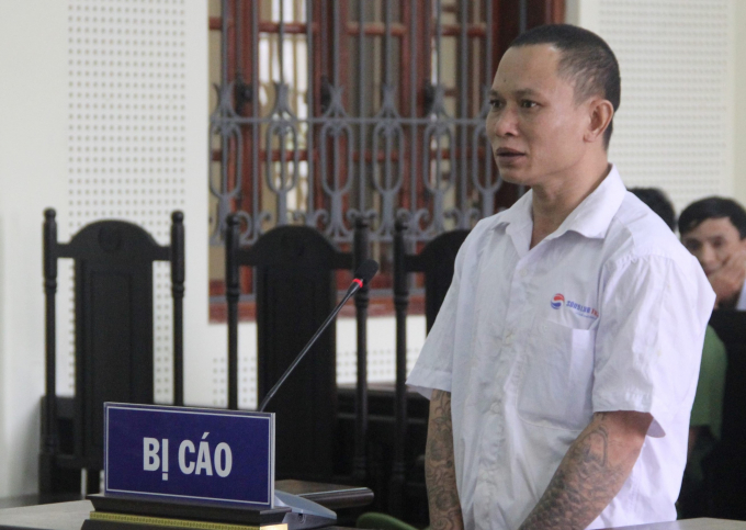Bị cáo Quân tại phiên xét xử ngày 6/11.