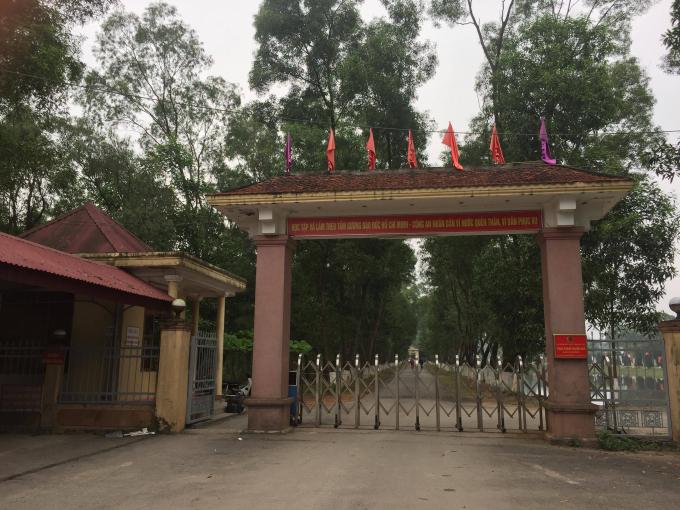 Trại giam Xuân Hà nơi xảy ra sự việc.