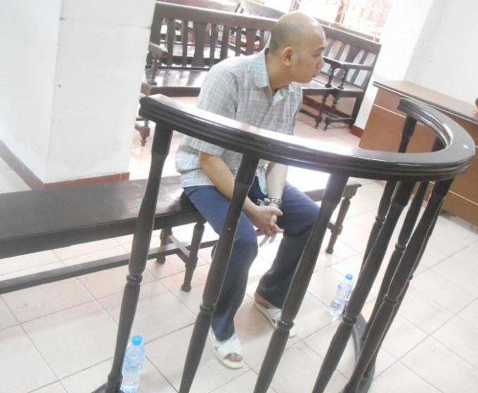 Bị cáo Triệu Minh Tuấn tại phiên tòa phúc thẩm (Ảnh: Nguyễn Xinh)