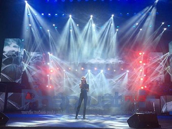 Hồ Ngọc Hà trong buổi diễn tổng duyệtLive Concert