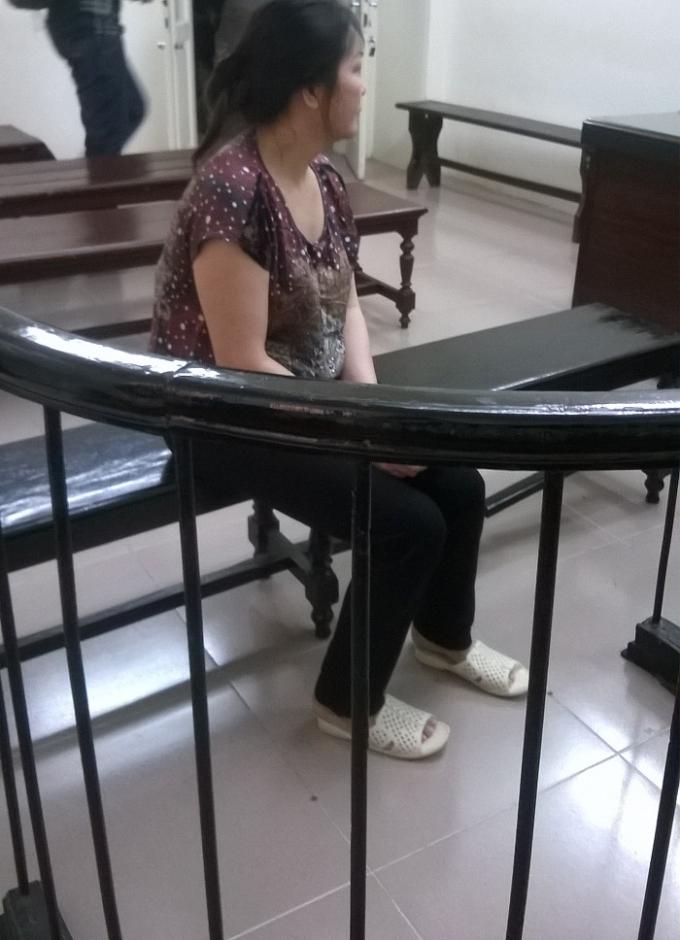 Bị cáo Hạnh tại tòa.