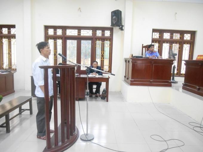 Bị cáo Nguyễn Văn Tuyển tại tòa