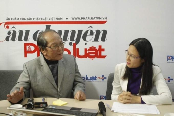 Nhà Báo Trần Mỹ gặp gỡ phóng viên báo Pháp luật Plus ngày 22/12