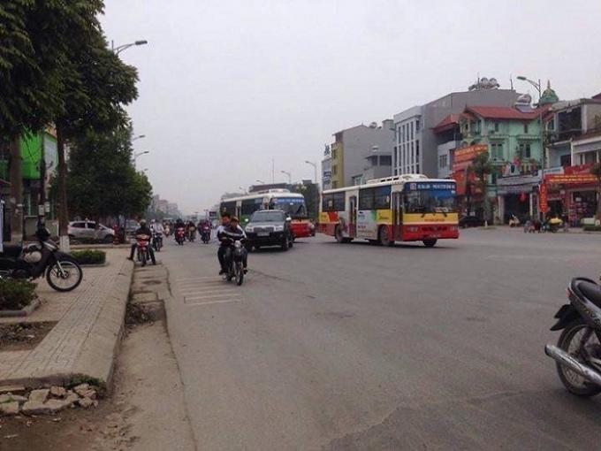 Khu vực xảy ra va chạm giao thông.