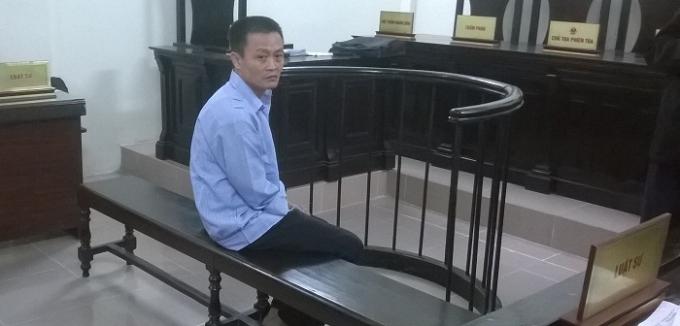 Bị cáo Nguyễn Ngọc Bảo tại phiên tòa sáng 26/11.