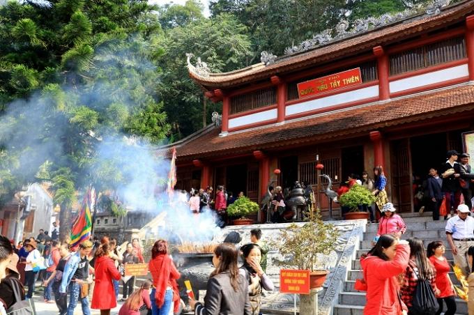 Trong 5 ngày đầu xuân, Tây Thiên đã đón gần 70.000 lượt khách.