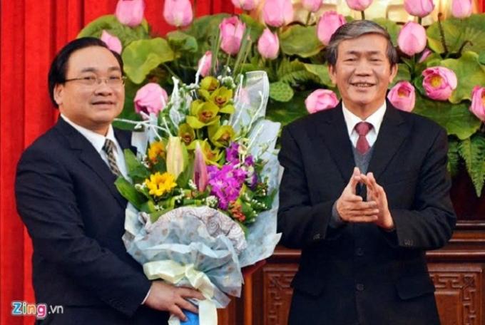 Ông Hoàng Trung Hải trong ngày nhận chứcBí thư Thành ủy Hà Nội. (Ảnh: Zing)