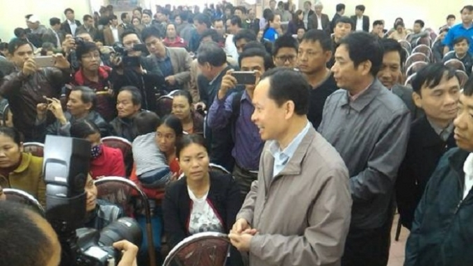 Ông Trịnh Văn Chiến - Bí thư Tỉnh ủy Thanh Hóa trong buổi tiếp dân sáng nay.