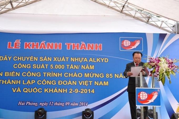 Cty CP Sơn Hải Phòngkhánh thành dây chuyền sản xuất nhựa Alkyd.