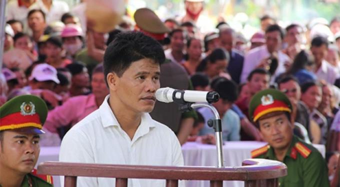 Bị cáo Tân tại phiên tòa ngày 25/9.