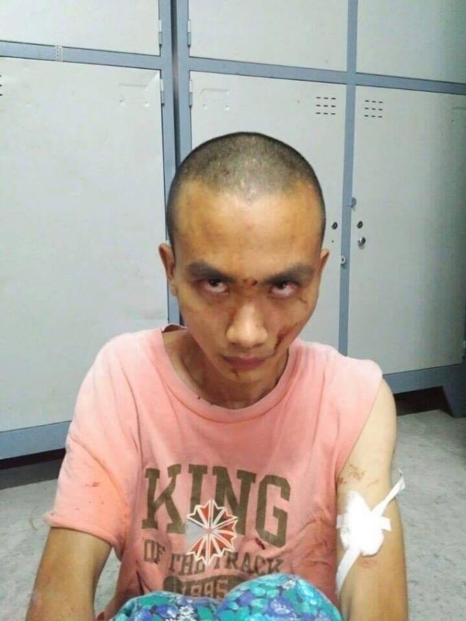 Nghi phạmNguyễn Quang Huy tại cơ quan công an. (Ảnh: Cơ quan công an cung cấp)