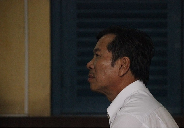 Bị cáo Lê Quang Dẫn tại tòa.