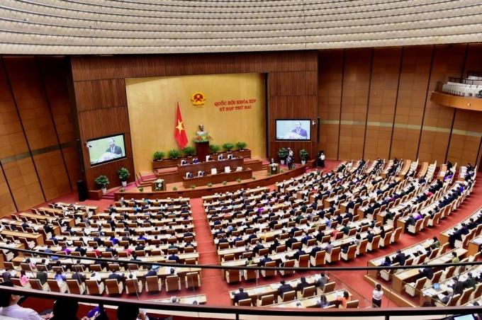 Toàn cảnh phiên khai mạc kỳ họp thứ 2, Quốc hội khóa XIV.