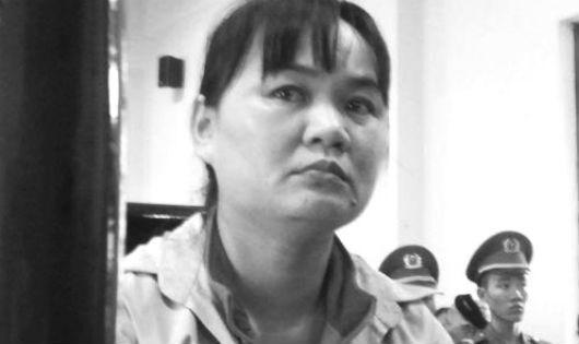 Bị cáo Nguyễn Thị Lành tại phiên xử ngày 25/3/2015.