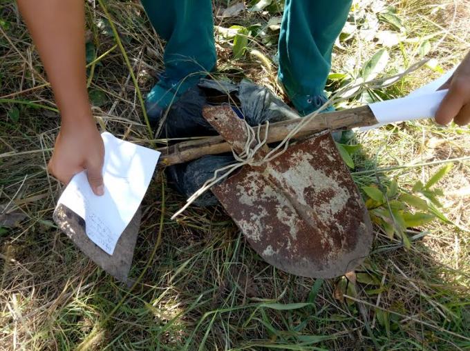 Tang vật được tìm thấy tại hiện trường vụ việc.