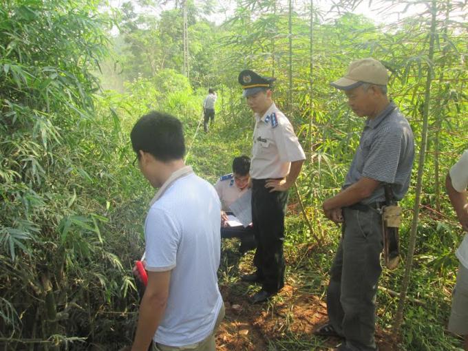 Cơ quan THADS địa phương đang tiến hành kê biên tài sản là quyền sử dụng đất.
