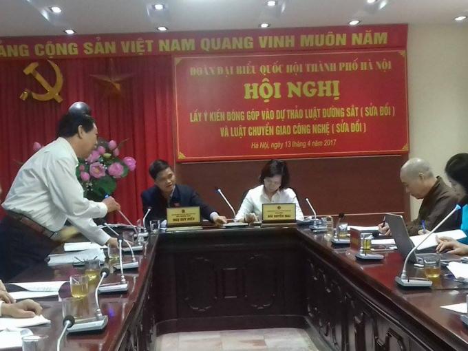 Hội nghị lấy ý kiến góp ý dự thảo Luật Đường sắt (sửa đổi) và Luật Chuyển giao công nghệ (sửa đổi).