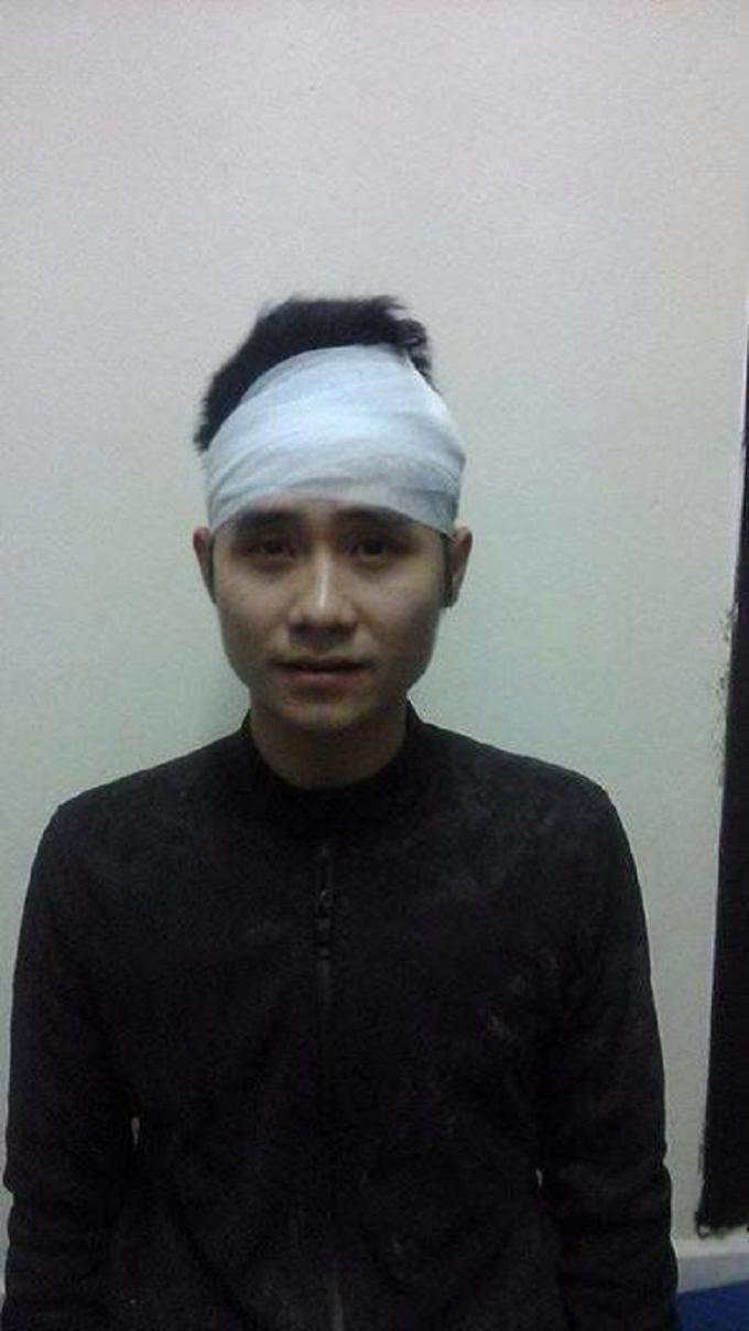Đối tượng Nguyễn Minh Đức tại cơ quan điều tra.