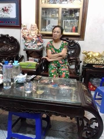 Bà Nguyễn Thị Thuấn kể về sự việc.