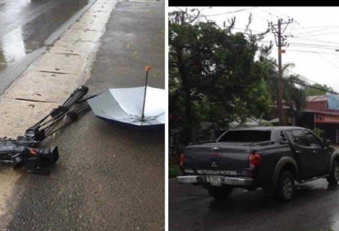 Nhóm phóng viên VTV bị đâm nát máy quay hơn 1 tỷ đồng.