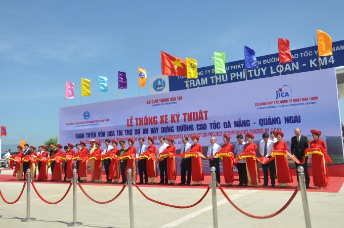 Lễ thông xe kỹ thuật dự án xây dựng đường cao tốc Đà Nẵng – Quảng Ngãi.