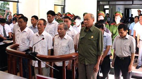 Phiên tòa xét xử vụ Đồng Tâm. (Ảnh: báo Vietnamnet)