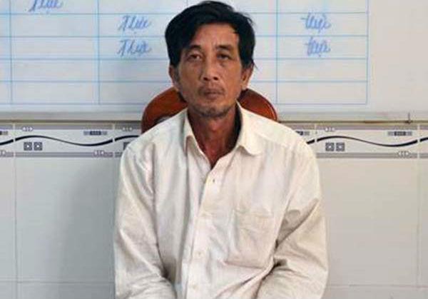 Nghi can Trần Minh Phong tại cơ quan điều tra. (Ảnh: báo Vietnamnet)