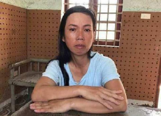 Nguyễn Thị Thảo tại Cơ quan Công an.