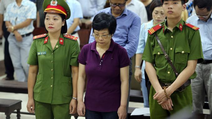 Bị cáo Châu Thị Thu Nga tại tòa. (Ảnh: Vietnamnet).