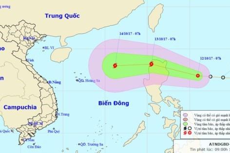 Dự báo về đường di chuyển và khu vực ảnh hưởng của bão.